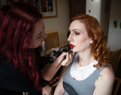 Model Ruby Lorcan with Hanna Gill MUA