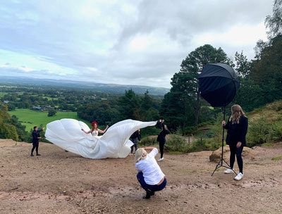 Location photoshoot with Ruby Lorcan