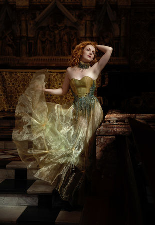 Grace Horne Designs with Ivory Flame Model at Oxford Conference of Corsetry
